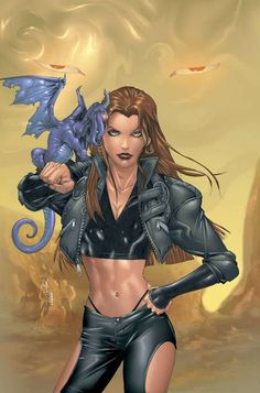 Shadowcat & Lockheed from the X-Men
