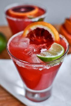 Blood Orange Margaritas ~ Bursting with color and flavor... They taste just as amazing as they look!