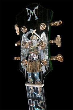 Head stock inlay for Minarik Guitar by Arlene Goulart http://arlenegoulart.com/