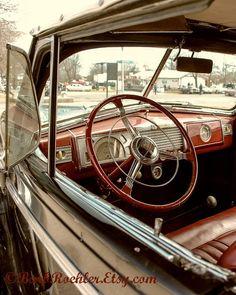 1941 Buick - Rustic Wall Art - Classic Car Art Prints - Retro Print - Vintage Car Photography - Garage Art - Father's Day-Black-Red via Etsy