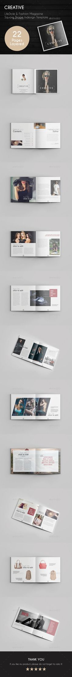 Creative Magazine Template  — InDesign Template #print #stylish • Download ➝ https://graphicriver.net/item/creative-magazine-template/18033438?ref=pxcr