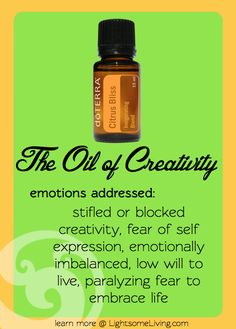 Emotional Healing & Essential Oils: Citrus Bliss - oil of creativity Essential Oil Uses, Natural Essential Oils, Young Living Essential Oils, Natural Oils, Healing Oils, Aromatherapy Oils, Emotional Healing, Doterra Essential Oils, Bliss