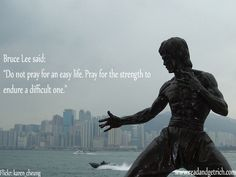 Bruce Lee quote on strength
