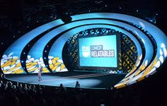 Image result for conference stage design projection discussion