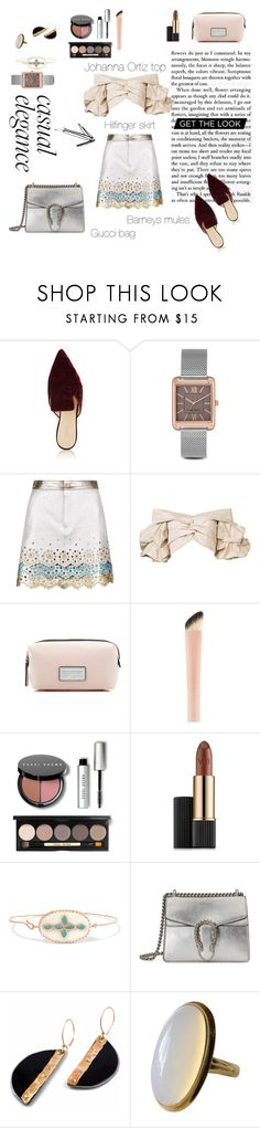 """""""Look of the day"""" by sarraho ❤ liked on Polyvore featuring Barneys New York, Nine West, Hilfiger Collection, Johanna Ortiz, Marc Jacobs, Bobbi Brown Cosmetics, Estée Lauder, Pascale Monvoisin and Gucci"""