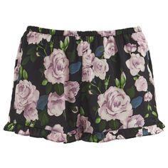 MINKPINK Women's Night Garden Satin Shorts ($12) ❤ liked on Polyvore featuring shorts, bottoms, pajamas, sleepwear, multi and minkpink