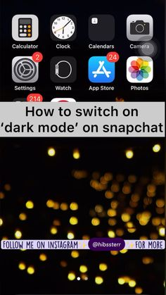 Dark Mode is FINALLY on Snapchat!