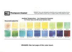 Enameling Help and Information Color Photography, The Expanse, Fused Glass, Prints, Enamels, Gray Color, Chart, Vitreous Enamel, Enamel