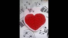 Prosta podkładka - serce. Easy crochet coaster - heart