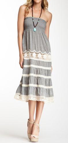 Smocked lace summer dress