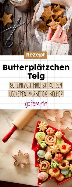 Rezept für Butterplätzchen: So schnell und einfach machst du den lecken Mürbeteig selber