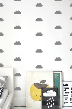 Small clouds pattern wallstickers