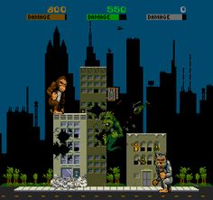 Rampage - originally an arcade game (seen here) but platformed later