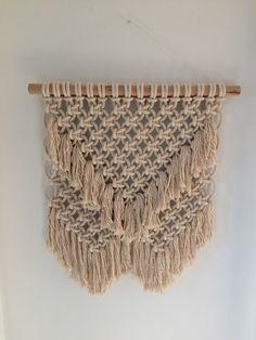 Layered macrame wall hanging