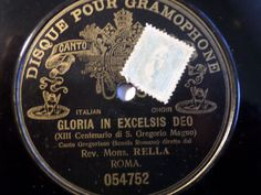 2nd Raritys Auction 2016 !! ‪#‎78rpm‬ ‪#‎shellacrecord‬ REV. MONS. RELLA  Gloria In Excelsis Deo  rarest G&T Gregorian Sixtine Capel 12