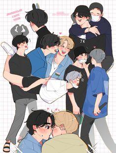 Foto Jimin, Jimin Jungkook, Bts Bangtan Boy, Fanart, Kpop, Male Male, Bts Imagine, Boyxboy, Bts Fans
