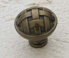 Cliffside Industries Cabinet Hardware Antique Brass Basket Weave cabinet knobs