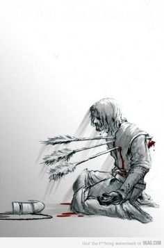 Boromir's death, so heartrendingly horrible and epic, and sad and heroic