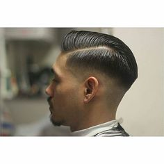with ・・・ Gentleman's done proper and earning today's by a. Well blended and combed over into an Asian Man Haircut, Crop Haircut, Beard Haircut, Slick Hairstyles, Top Hairstyles, Pompadour Fade Haircut, Short Hair Cuts, Short Hair Styles, High Skin Fade