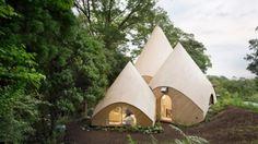 Dit huis heeft de vorm van een tipi tent en de luxe van een resort