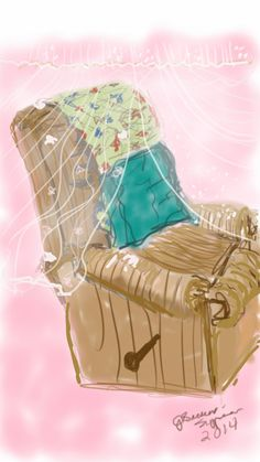 Mom's chair.  I drew this the day after she passed away.  I still can't sit in it.