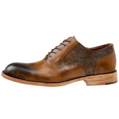 Hand-crafted Artisan Oxford by Esquivel with etched overlays & hand burnished leather