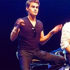 dancing the vampire diaries bird stefan salvatore flapping the vampire diaries cast #gif from #giphy
