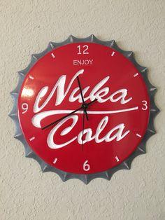 A personal favorite from my Etsy shop https://www.etsy.com/listing/548476655/nuka-cola-bottle-cap-clock-12-quartz