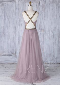 2017 Dusty Thistle Tulle Bridesmaid Dress with Gold Belt Key Wedding Dress, Gold Bridesmaid Dresses, Bridesmaids, Formal Wear, Formal Dresses, Fiesta Dress, Chiffon, Mauve Dress, Gold Belts