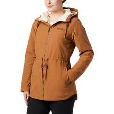 Columbia Chatfield Hill Jacket for Ladies - Camel Brown/Chalk Sherpa - L Tan Jacket, Hooded Jacket, Work Jackets, Jackets For Women, Outdoor Apparel, Columbia Sportswear, Straight Leg Pants, Winter Jackets