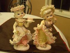 Beautiful Girls Figurines Set of 2 One is Lipper & Mann Creations   #243845996