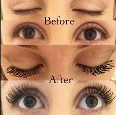 Younique 3D Fiber Lash Mascara before and after pictures! Order yours today!  https://www.youniqueproducts.com/BeccaPage