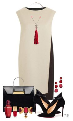 """""""Black & White"""" by nuria-pellisa-salvado ❤ liked on Polyvore featuring PINGHE, Balenciaga, Christian Louboutin, Chanel, Guerlain, Yves Saint Laurent, Annoushka, Alexander McQueen, blackandwhite and polyvorecommunity"""