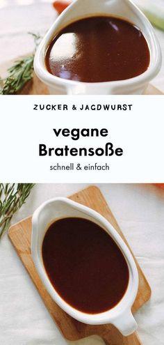 Vegan gravy - sugar & hunting sausage - Vegan gravy Informations About Vegane Bratensauce – Zucker&Jagdwu - Sausage Recipes, Veggie Recipes, Vegetarian Recipes, Vegetarian Gravy, Zuchinni Recipes, Broccoli Recipes, Mushroom Recipes, Holiday Recipes, Dinner Recipes