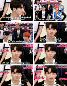 I love how in the first pic Kookie is like- Your life depends on your response XD #Kookie #Jimin #BTS