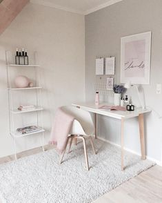 Best Desk Decor Design Ideas & Fun Accessoris DIYs for your desk - Brad S Knutson 🏠 Home Design Lover - It is The Time Club Minimalist House Design, Minimalist Home, Minimalist Bedroom, Home Office Design, Home Office Decor, Office Ideas, Office Designs, Office Setup, Pink Office Decor