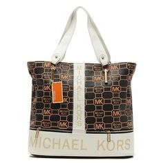 Perfect Michael Kors Logo Signature Large White Totes, Perfect You