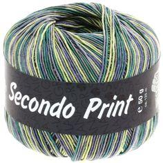 SECONDO print II 506-jeans/yellow/emerald/dark grey