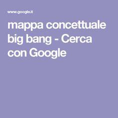 mappa concettuale big bang - Cerca con Google