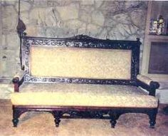 A cool Mediterranean Victorian Style sofa from 1881