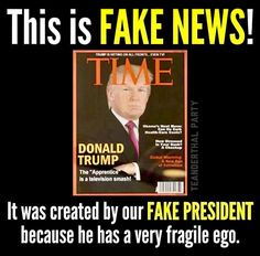 The toddler emperor had these fake TIME Magazine covers made and distributed, to be framed in gold and posted at his golf courses and hotels. You know, to show what a bigly boy he is.