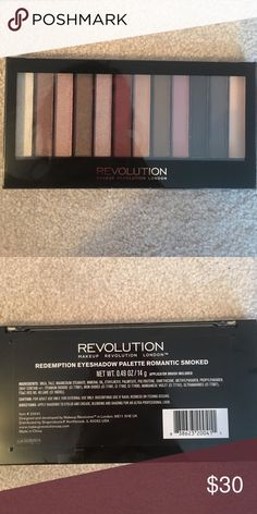 REVOLUTION smokey eye palette NEW! NEVER USED OR OPENED! Romantic smokey eye shadow palette. Comes with 12 different colors. Revolution  Makeup Eyeshadow