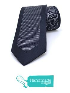 "Black and grey floral, striped men's tie 6,5 cm (2,56"") SL-116 from Nazo Design… #handmadeatamazon #nazodesign"