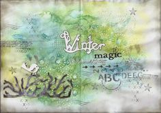Bogi alkot: Winter magic - Art journal