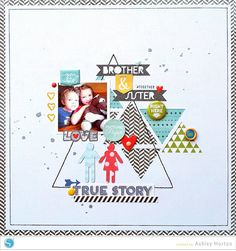 #papercraft #scrapbook #layout  Brother & Sister ***Silhouette***