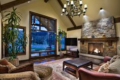 Multiple Focal Points Living Room Design Ideas, Pictures, Remodel and Decor