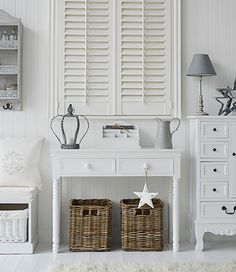 White New England style living room from The White Cottage furniture and accessories