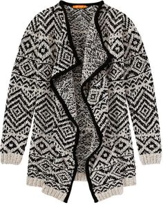 Joe Fresh Geometric Open Cardigan - Black Open Cardigan, Black Cardigan, Joe Fresh, Must Haves, Fall, Autumn