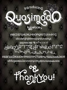 Quasimodo - #Decorative #Fonts Download here: https://graphicriver.net/item/quasimodo/19738886?ref=alena994