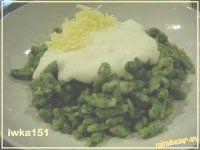Špenátové halušky s bryndzou